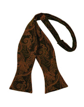 Load image into Gallery viewer, Cognac Tapestry Bow Tie
