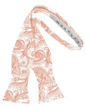 Load image into Gallery viewer, Peach Tapestry Bow Tie