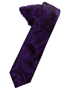 Purple Tapestry Skinny Necktie