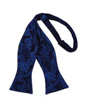 Load image into Gallery viewer, Royal Blue Tapestry Bow Tie