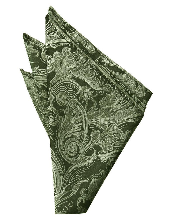 Sage Tapestry Pocket Square