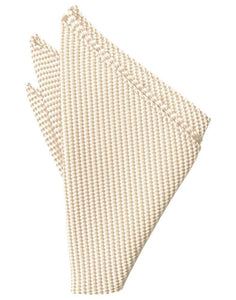 Light Champagne Venetian Pocket Square