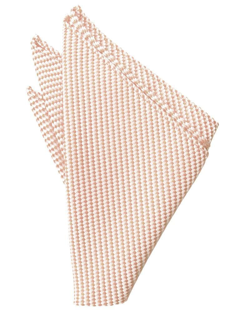 Peach Venetian Pocket Square