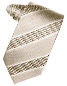 Light Champagne Venetian Stripe Necktie