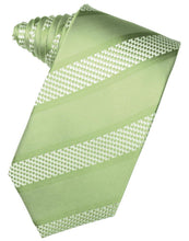Load image into Gallery viewer, Mint Venetian Stripe Necktie