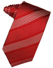 Load image into Gallery viewer, Red Venetian Stripe Necktie