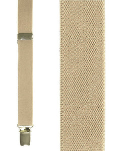 """Beige Oxford"" Suspenders"