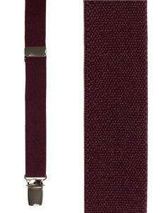 """Burgundy Oxford"" Suspenders"