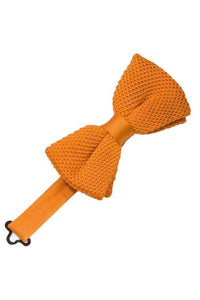 Burnt Orange Silk Knit Bow Tie