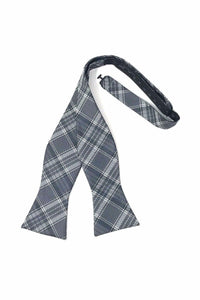 Grey Madison Plaid Bow Tie