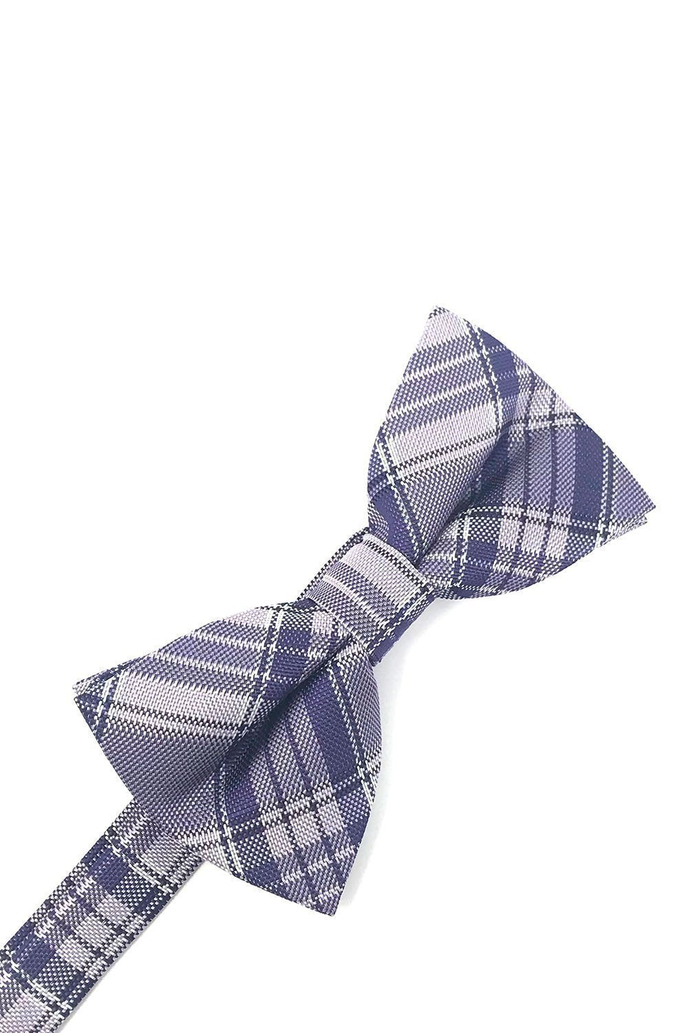 Purple Madison Plaid Bow Tie