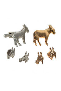 Democrat Donkey Studs and Cufflinks Set