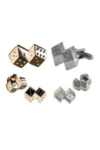 Double Dice Studs and Cufflinks Set