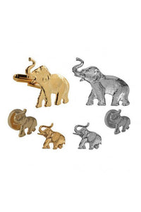 Republican Elephant Studs and Cufflinks Set