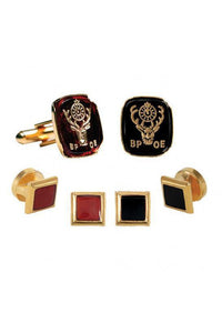 Elks Insignia Studs and Cufflinks Set