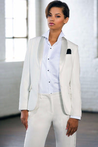 "Gloria"" Diamond White Tuxedo Jacket (Separates)"