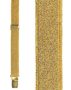 """Gold Broadway Glitter"" Suspenders"