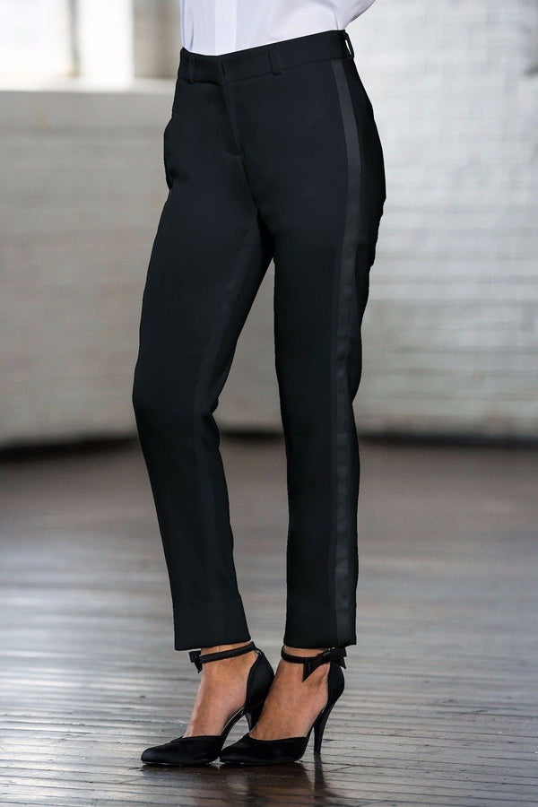 Hepburn Black Ultra Slim Fit Tuxedo Pants