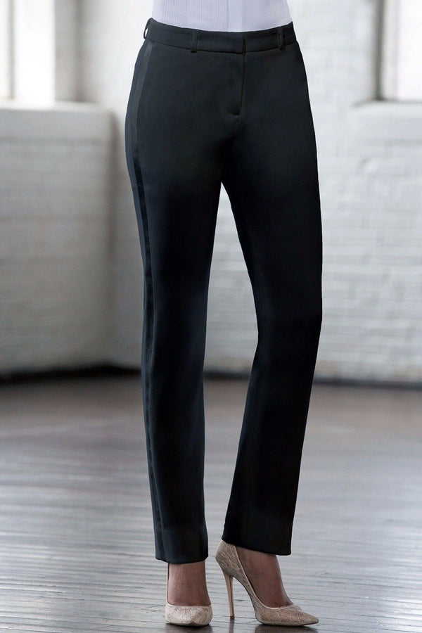 Keaton Black Slim Fit Tuxedo Pants