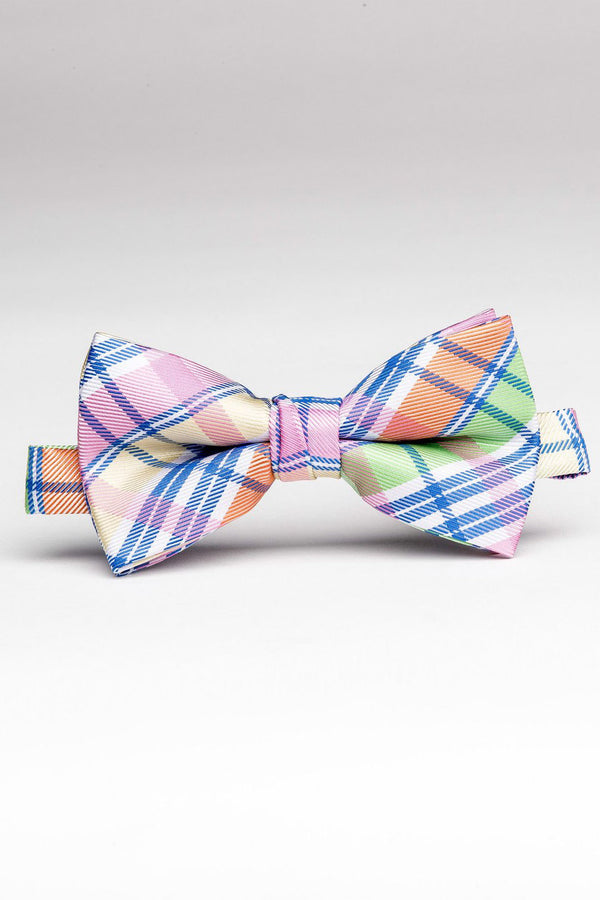 Plaid Pastel Bow Tie