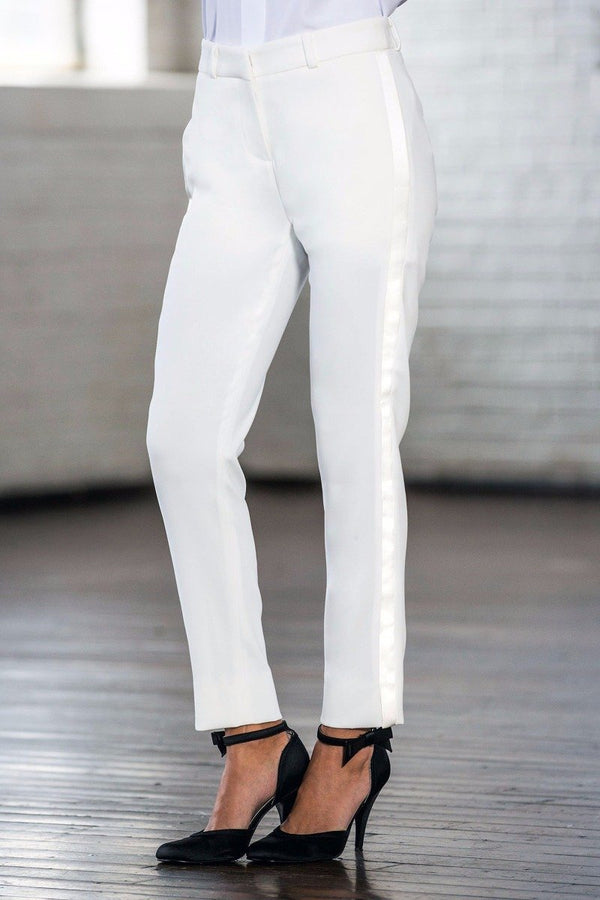 Monroe Diamond White Ultra Slim Fit Tuxedo Pants