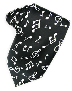 Music Notes Necktie