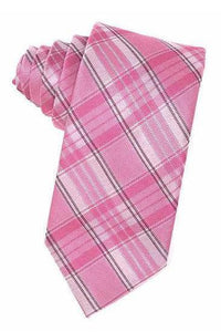 Pink Madison Plaid Necktie
