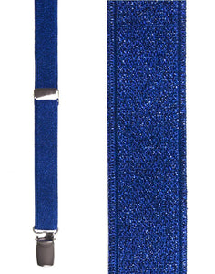 """Royal Blue Broadway Glitter"" Suspenders"