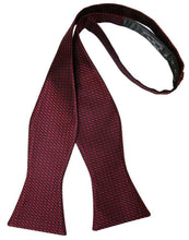Load image into Gallery viewer, Wine Silk Weave Bow Tie