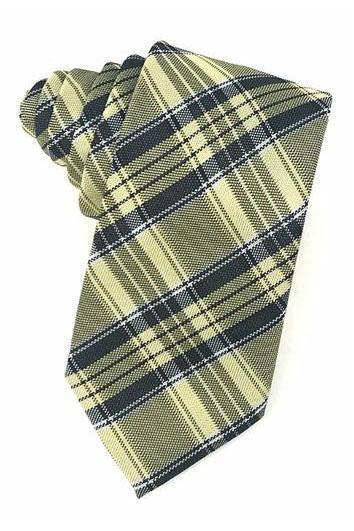 Yellow Madison Plaid Necktie