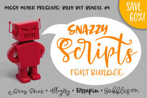 Billy Bot Bundles 4: Snazzy Scripts Font Bundle!