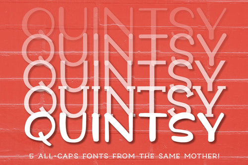 Quintsy: a fun five-font family!