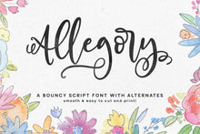 Load image into Gallery viewer, Allegory: a fun & curly script font!