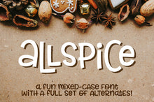 Load image into Gallery viewer, Allspice: a fun mixed-case font!