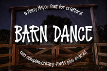 Load image into Gallery viewer, Barn Dance: a homey little lettering font!