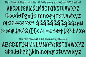 Barn Dance: a homey little lettering font!
