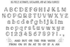 Big Freeze and Big Frost: a wintry font family!