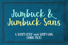 Load image into Gallery viewer, Jumbuck & Jumbuck Sans fun font duo!