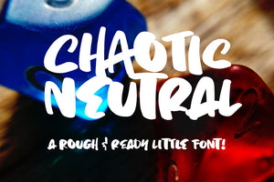 Chaotic Neutral: a quirky and fun font!