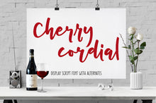 Load image into Gallery viewer, Cherry Cordial: a script display font!