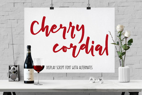 Cherry Cordial: a script display font!