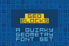 Load image into Gallery viewer, GeoBlocks: a geometric font of blocks!