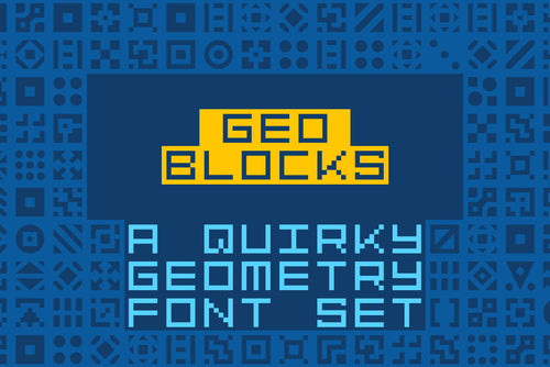 GeoBlocks: a geometric font of blocks!