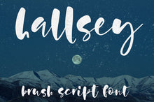 Load image into Gallery viewer, Hallsey: an all-lowercase bouncy script font!