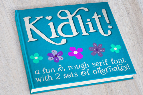 Kidlit: a fun serif font with alternates!