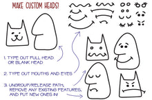 Load image into Gallery viewer, Kookyheads: a dingbat doodle font of faces!