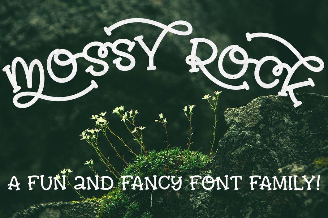 Mossy Rock: a fun font family with alternates!