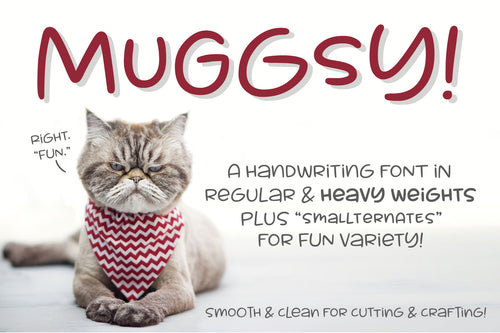 Muggsy: a short and stout fun font!