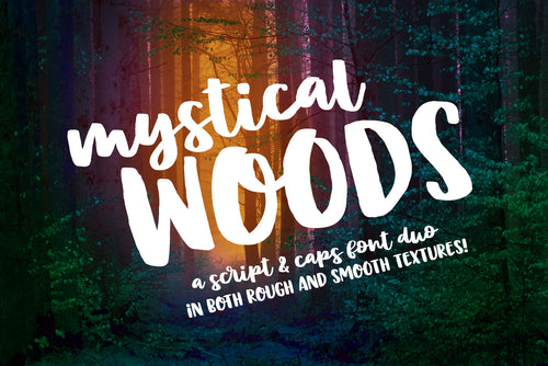 Mystical Woods: a script and caps font duo!