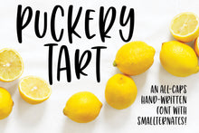 Load image into Gallery viewer, Puckery Tart: a tasty tall lettering font!
